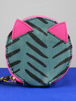 Fossil Herringbone Keely Coated Canvas Round Zip Coin Mini Wallet Sl7213 $30