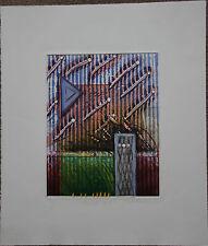 Bernard MUNTANER Gravure etching gaufrage signée numérot envol 1989 *