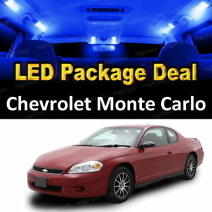 8 PCS LED Lights For 2000-2005 Chevrolet Monte Carlo Kit Interior Package BLUE