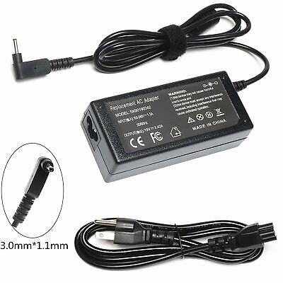 """Fite ON 65W AC Adapter Charger For Acer 720 C720P 11.6/"""" Chromebook Power Supply"""