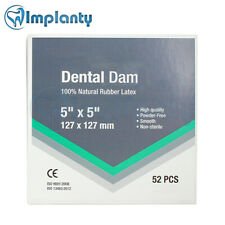 Dental Dam Rubber Latex Natural Sheet Surgical Site Isolation 5x5 127x127mm