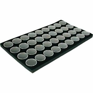 Gem Jar Foam Inserts 36 White Tray Jewelry Display Organizer Gemstones 6