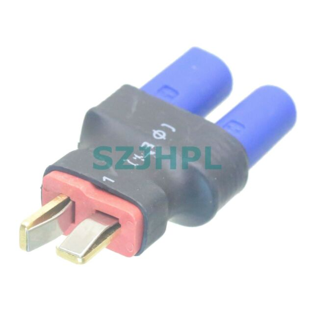 Ultra Compact EC5 Female to T-Plug (Deans Style) Male Adapter Connector No Wires