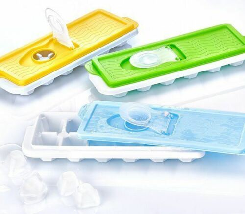 Assorted Colour Ice Cube Tray With Lid Easy To Pour Section No More Spilling