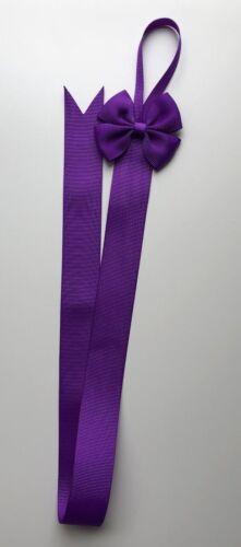 13 Colours Hair Bow Hangers//Holders//Ribbons 62cm x 2.5cm