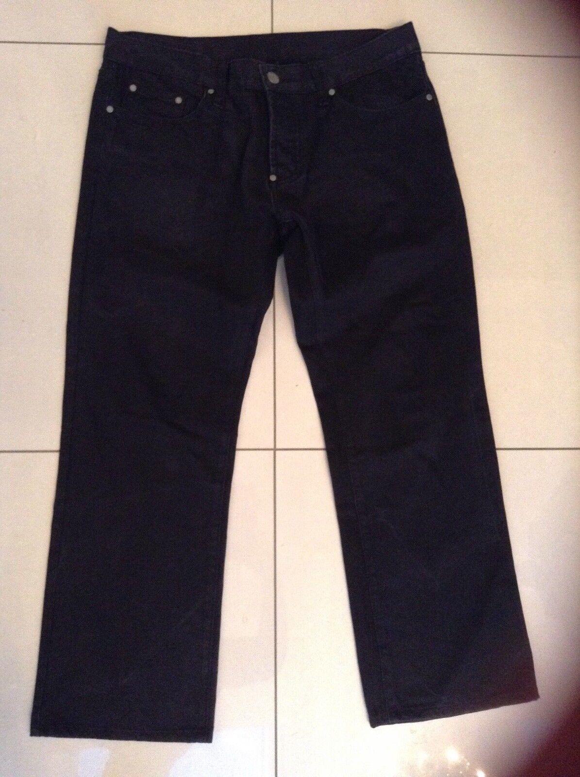 Uomo Christiano Baldinucci Jeans Pantaloni Nero Taglia EU36R