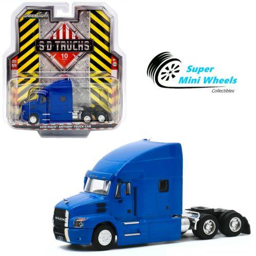 Greenlight 1:64 S.D Trucks 2019 Mack Anthem Truck Cab Cobalt Blue 45100-B