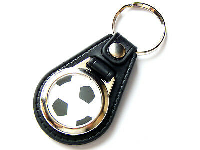 Fußball Ball Sport Qualitäts Leder Und Chrom Schlüsselring Strengthening Waist And Sinews Sport