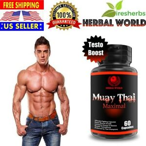 MUAY THAI MAX TESTOSTERONE BOOSTER PILLS SUPPLEMENT BIG MUSCLE ENERGY & STAMINA eBay