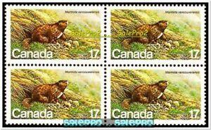 CANADA-1981-CANADIAN-WILDLIFE-MARMOTA-SQUIRREL-MINT-FACE-68-CENT-MNH-STAMP-BLOCK