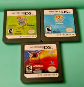 Zhu-Zhu-Pets-1-2-Kung-ZHU-Nintendo-DS-Lite-3DS-2DS-Games-Lot-of-3-Bundle