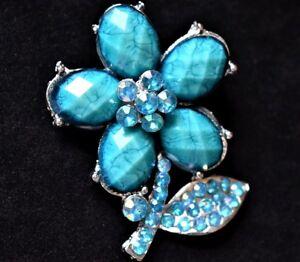 Vintage-Blue-Aurora-Borealis-Flower-Statement-Brooch-Floral-Coat-Sweater-Pin-2-034