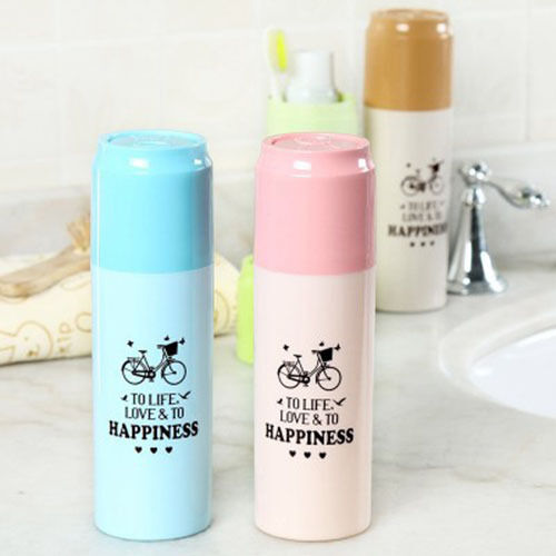 ToothBrush Paste Holder Case Box Plastic Covered Protect Travel Camping Bathroom