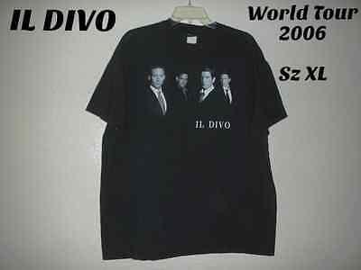 IL DIVO World Tour 2006 Sz XL CottonTee Shirt Sensational Music SinginVoices