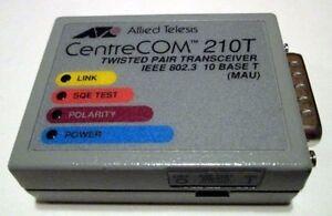 CentreCOM AT-210T AUI RJ-45 Transceiver Cisco 2509 2511 2500 210TS 5-YR Warranty
