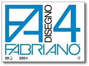 FABRIANO-F4-Album-da-disegno-4-angoli-220gr-33x48cm-20Fg-LISCIO-Sketchbook