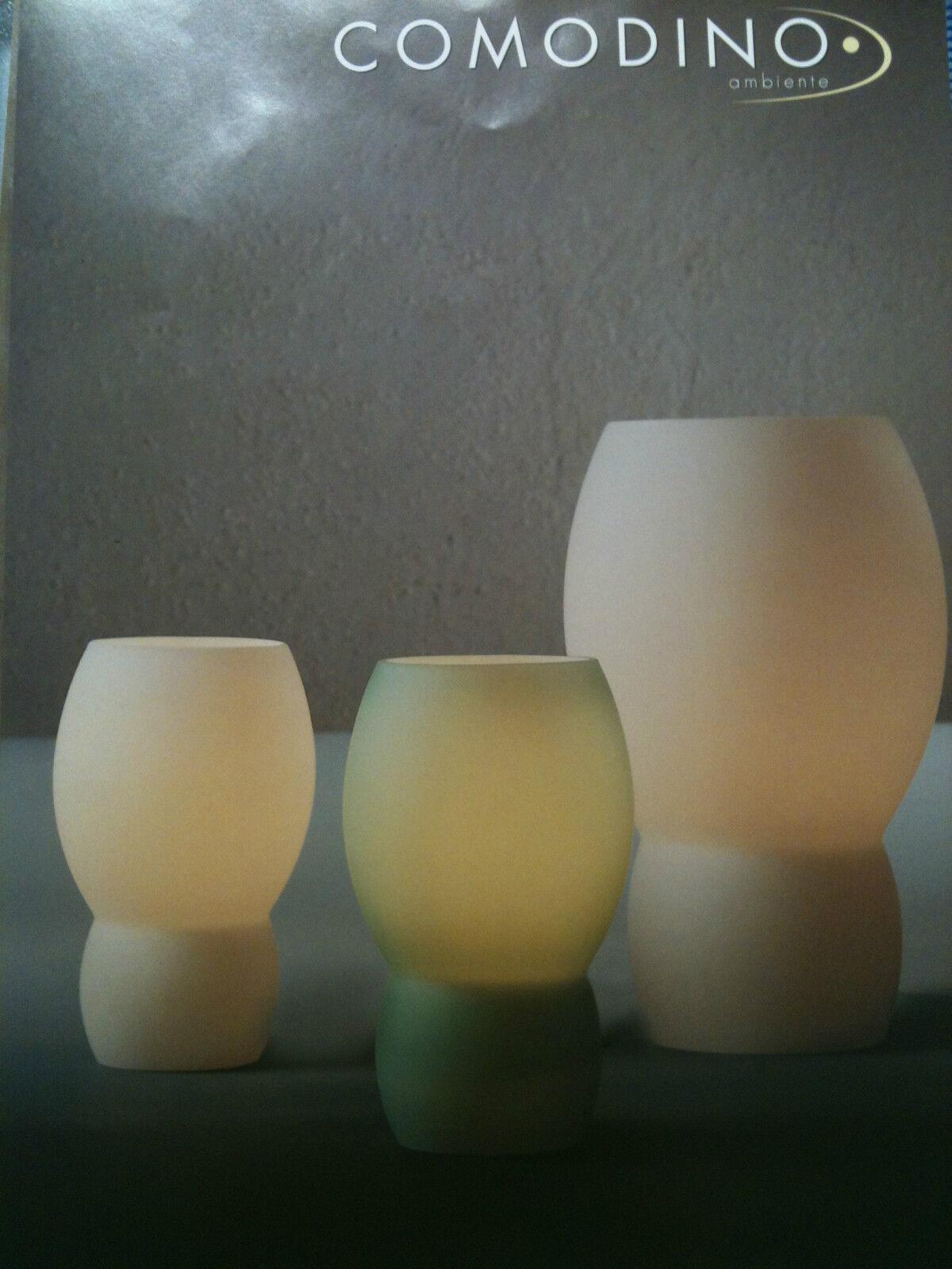 Comodino 25 cm hoch Tischleuchte Leuchte JS Fumy  weiß max. 60 W E14 o.  LED