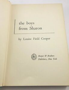 Vintage-Book-The-Boys-From-Sharon-by-Louise-Field-Cooper-1959