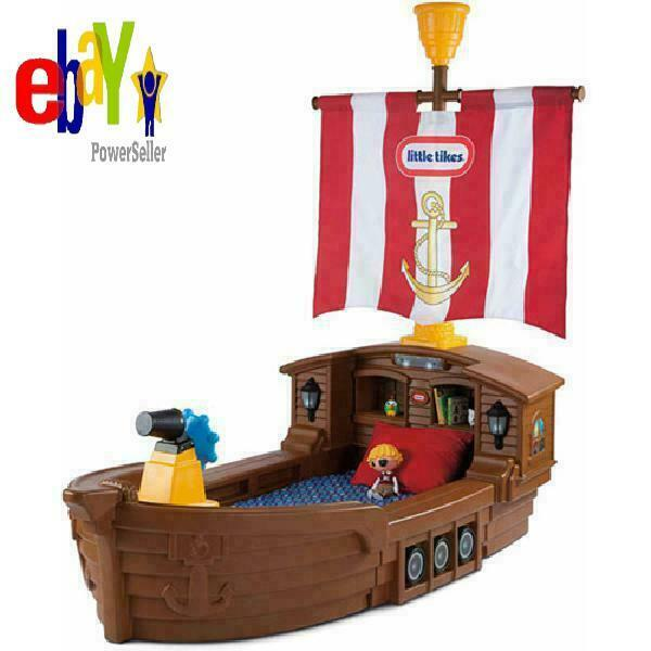 Pirate Ship Toddler Bed.Little Tikes Pirate Ship Toddler Bed With Storage Beautiful Gift New