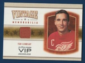 TED-LINDSAY-03-04-IN-THE-GAME-VIP-03-04-VINTAGE-MEMORABILIA-JERSEY-RARE-16201