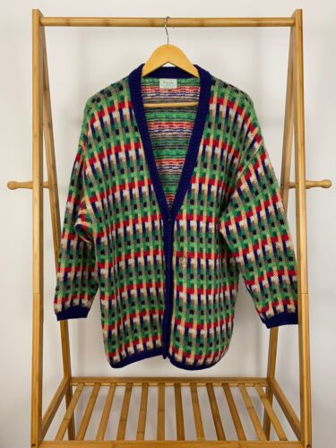 VTG Benetton Women's Mohair Blend Knitted Colorful