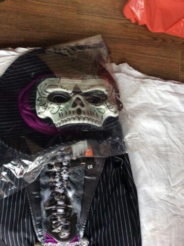 BNWT SAINSBURY'S TU CLOTHING TERRIFYING TUXEDO SKELETON BOYS HALLOWEEN COSTUME