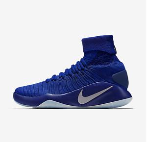 Nike MEN'S Hyperdunk 2016 Blue FLYKNIT Game Royal/Deep Royal Blue 2016 SIZE 11.5 NEW 316b08