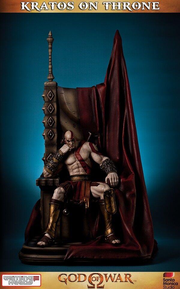 HAN AV VAROR Kratos PÅ Ares Throne 1  4 Polystone Staty Gaming Heads