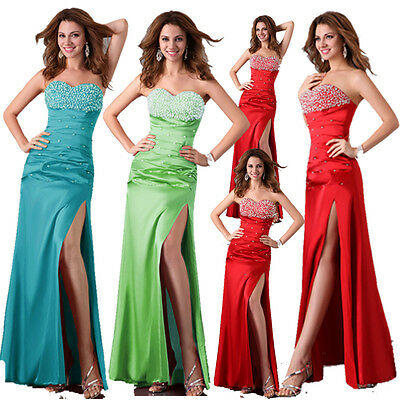 Long Wedding Evening Formal Party Ball Gown Prom Bridesmaid Dress Cheap