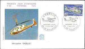 1805+ FDC  ENVELOPPE 1er JOUR     HELICOPTERE  GAZELLE