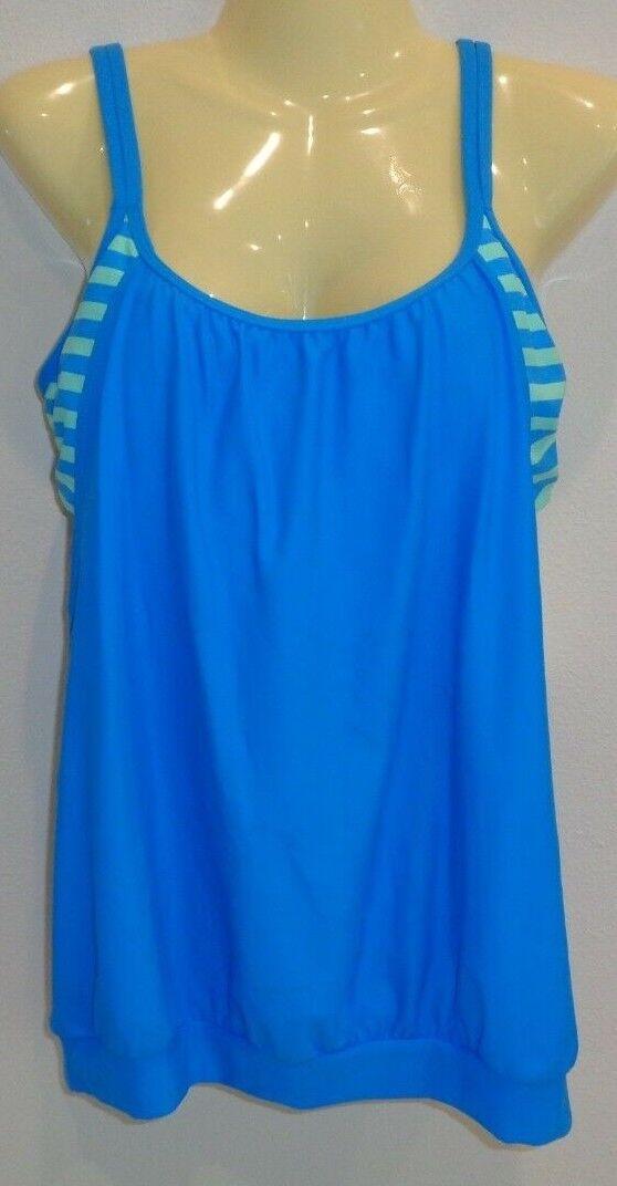 Next Size 34 B C DOUBLE UP SC TANKINI bluee New Womens Swimwear Swim Top