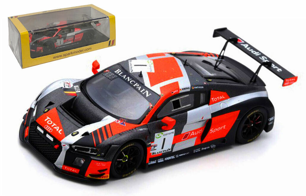 Spark SB219 Audi R8 LMS 'Belgian Audi Club' 24 Hours Of Spa 2018 - 1 43 Scale