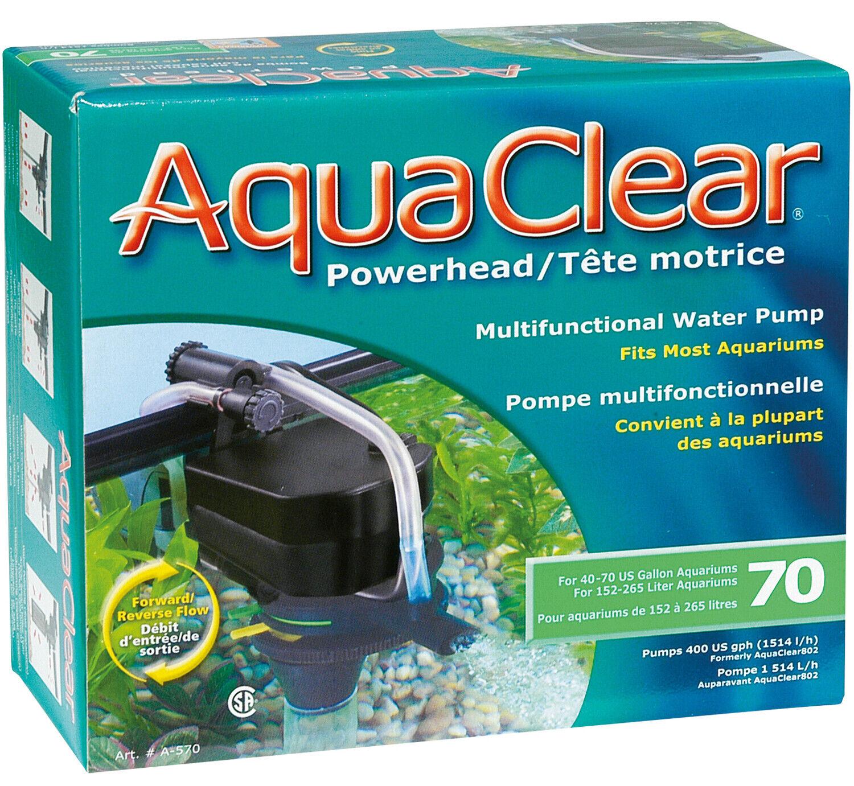 Aqua Clear PowerHead 70 POMPA MULTIFUNZIONE 21 Watt 1500lh ideale per sistema DSR