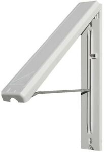 Image Is Loading Collapsible Wall Mounted Clothes Drying Rack In White