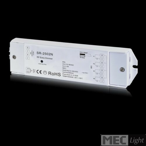 4 zone radio dimmer 12-36v RF corrente costante 350ma ricevitore RF sr-2502n