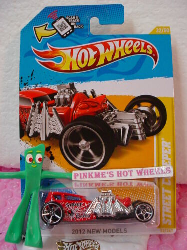 Schutzhülle Q 2012 #32 NM Hot Wheels Street Creeper ∞ Rot ∞ Spinne∞ Scan ∞ Neu