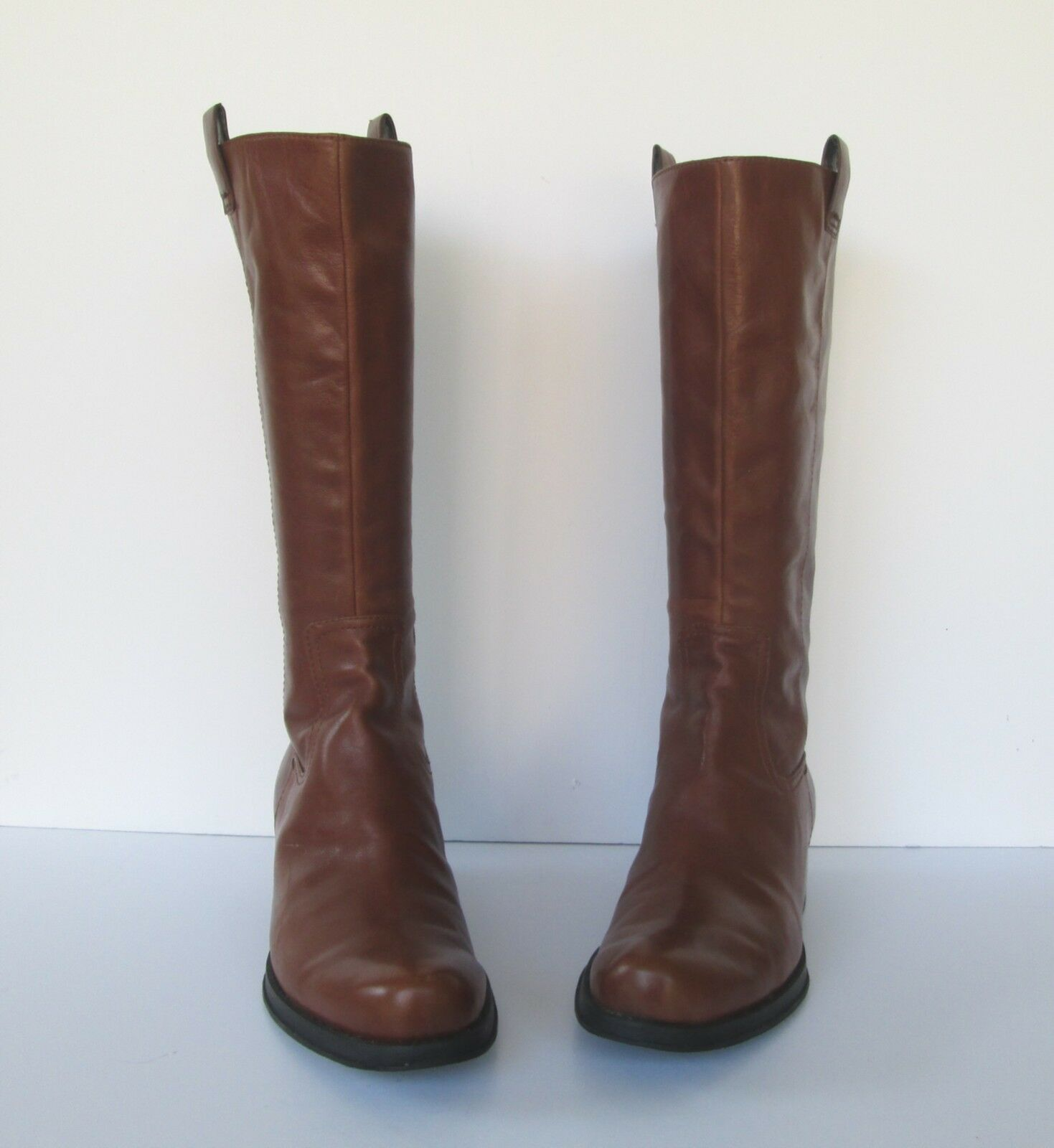 Nine West Damenschuhe Lovely Camel Braun Leder Leder Leder Knee High Riding style Stiefel 10 M 4f407d