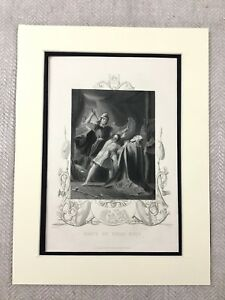1854 Antico Stampa Irlandese King Brian Boru Storia Di Irlanda Vittoriano Inciso