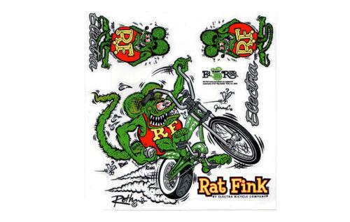Vélo Autocollant ELECTRA RAT FINK Sticker Set Cadre DECOR Autocollant Rat