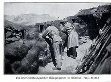 1915 Alto Adige * austriaci proteggere scavare * ww1