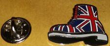 new design union jack flag doc martins boot enamel lapel badge united kingdom