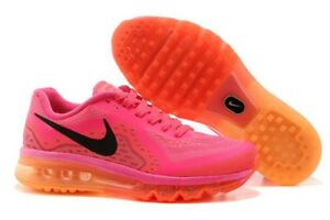 b67c7ef36a7 Nike Air Max Women s Hot Pink Orange Running 11 US Shoes Tennis ...