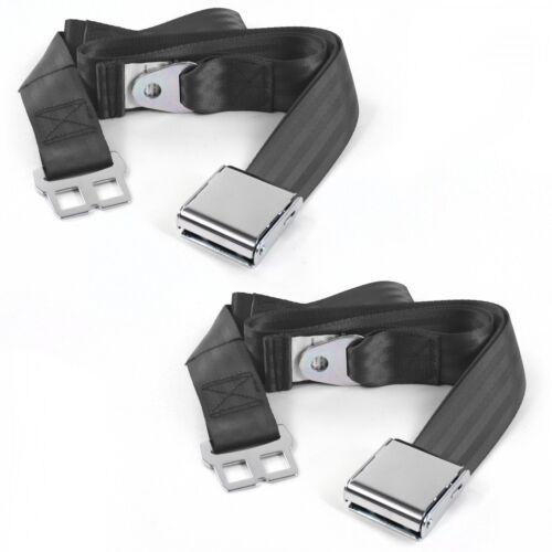 VW Karmann Ghia  Airplane 2pt Charcoal Lap Bench Seat Belt Kit 3 Belts SafTboy