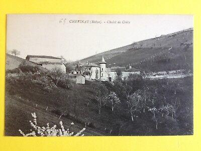 Estilo De Moda Cpa Chevinay (rhône) Chalet Croix De Crecy