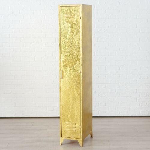 Génial malfaisant casier armoire Gold Vestiaire Chubb Métal Shabby Étagère Neuf