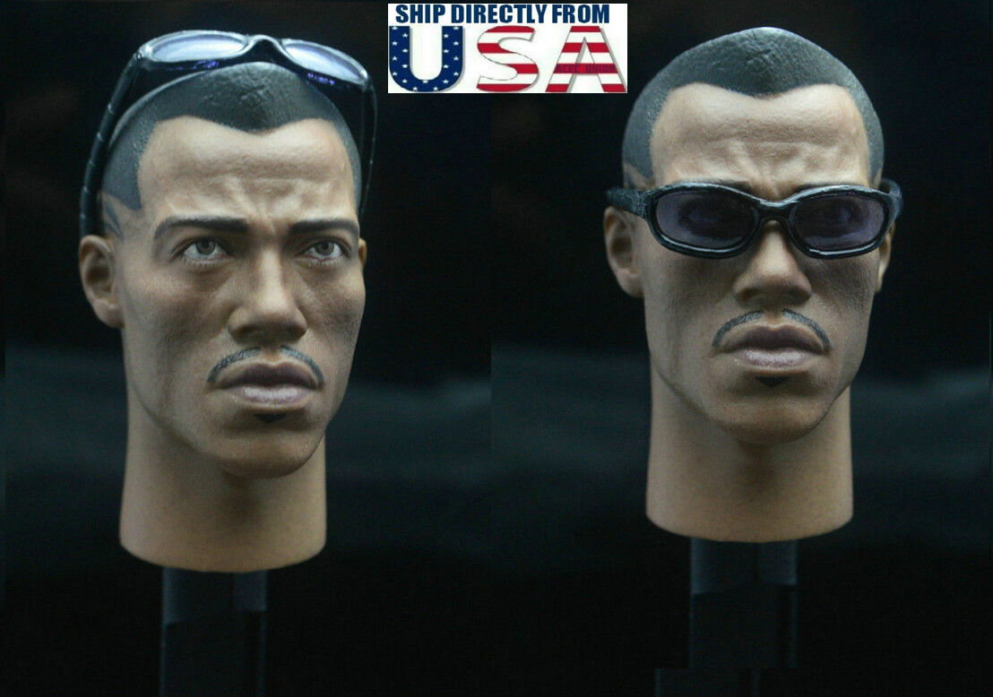 1 6 BLADE II Vampire Killer WESLEY SNIPE Head Sculpt For Hot Toys Figure U.S.A.