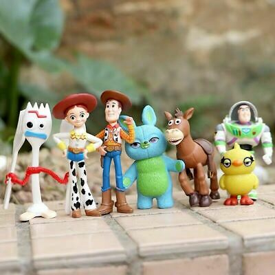 7 Teilesatz Toy Story 4 Actionfigur Hasengabel Ducky Forky Woody Buzz Lightyear