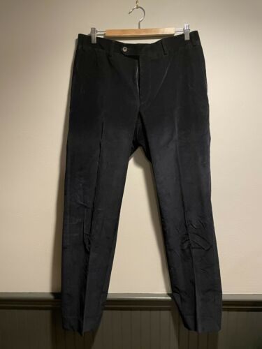 Canali Mens Navy Corduroy Pants Size 36 Made In It