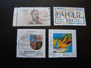 Germany-Rfa-Stamp-Yvert-and-Tellier-N-1542-1543-1544-1547-Obl-A5-Stamp