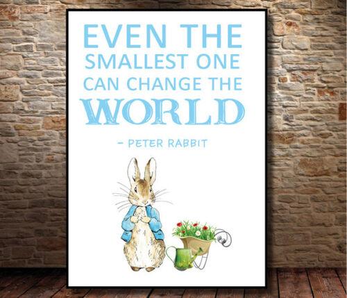 Peter Rabbit Garçon Bébé A4 Keepsake Brillant Imprimé Petit Citation